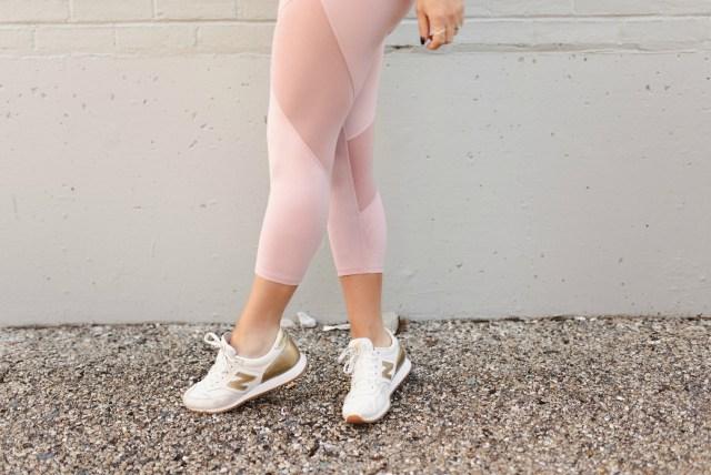 blush pink activewear leggings