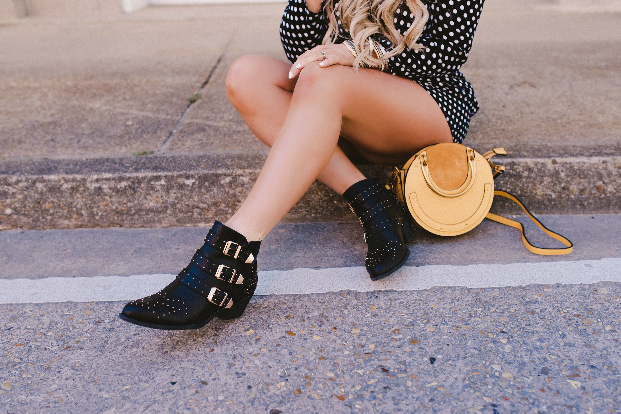 chloe dupe studded boots