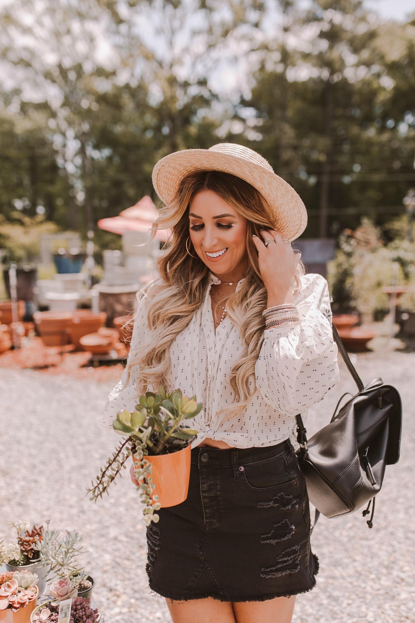 Bohemian long sleeve blouse on JanuaryHart.com