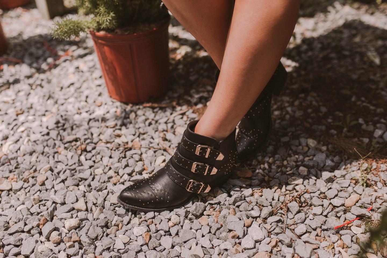 Chloe Inspired black studded booties on JanuaryHart.com