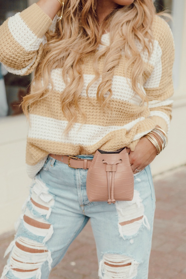 Nude Blush Belt Bag on JanuaryHart.com