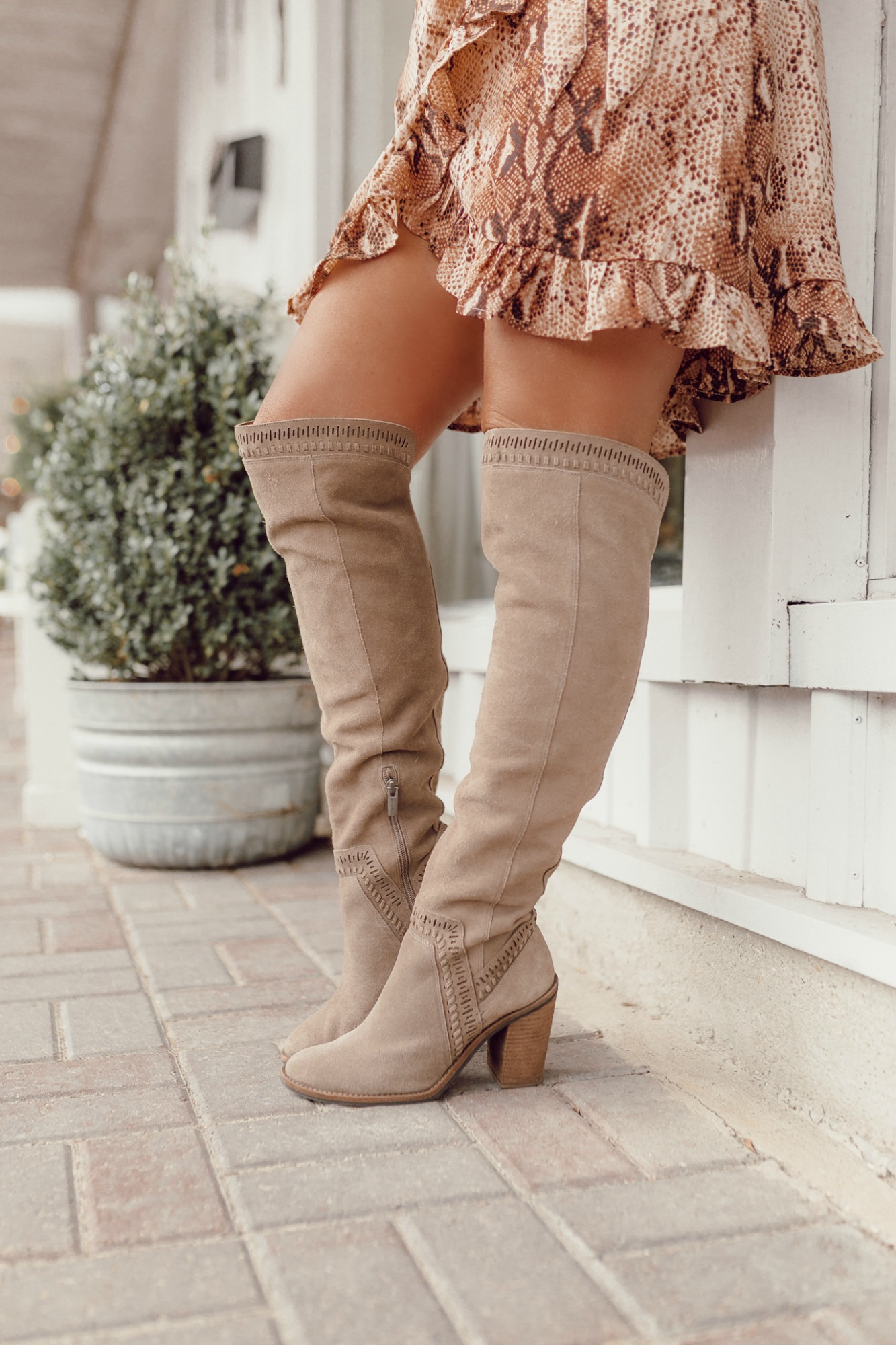 affordable neutral tall boots on JanuaryHart.com