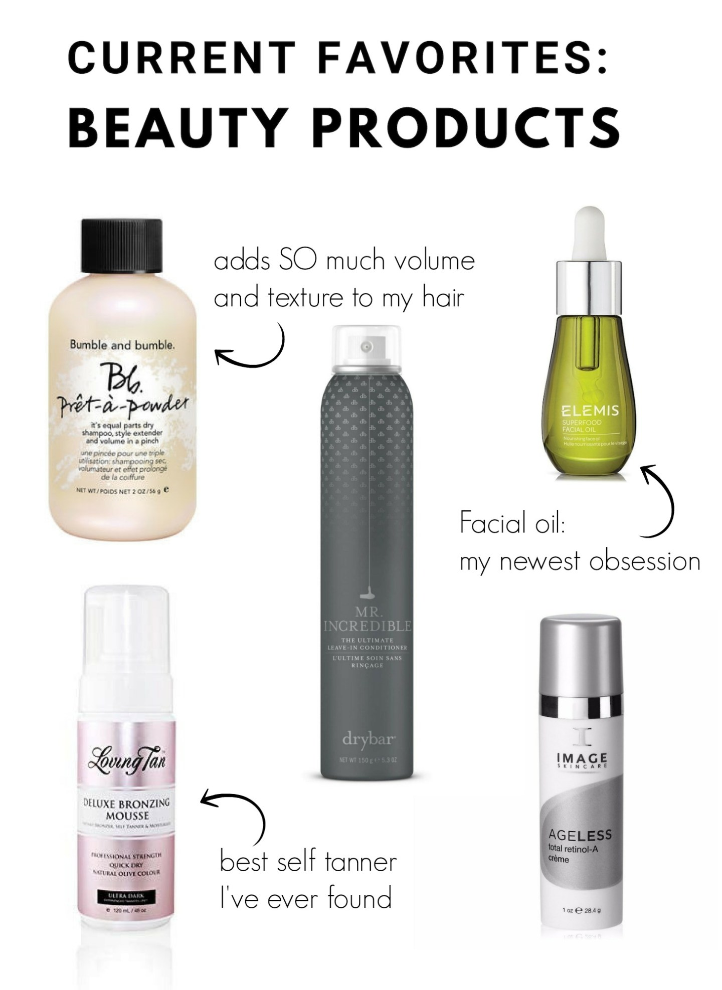 Beauty Product Favorites