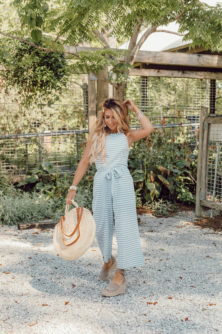 chambray jumpsuit outfit