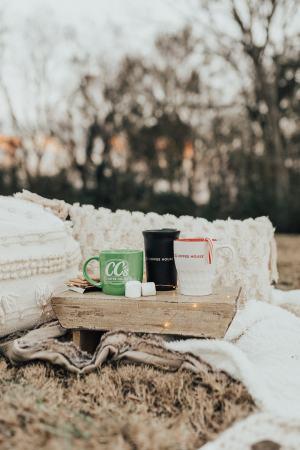 CC's Coffeehouse Holiday mugs 2019