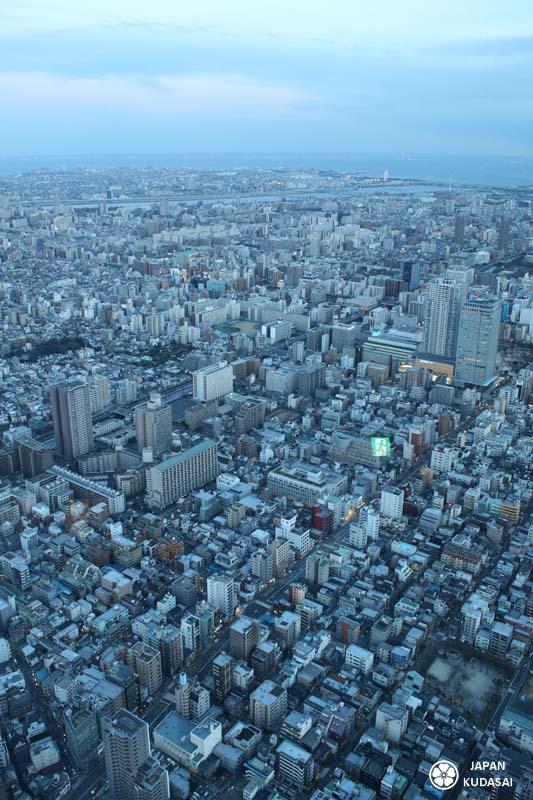 Vue sur la baie de Tokyo