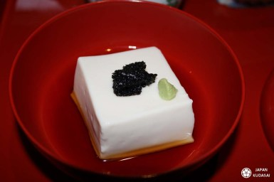 gomatofu - tofu au sésame, spécialité de koyasan