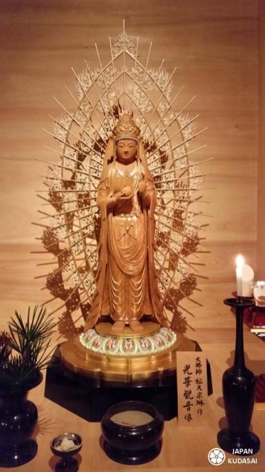 Statue du temple ichijoin à koyasan