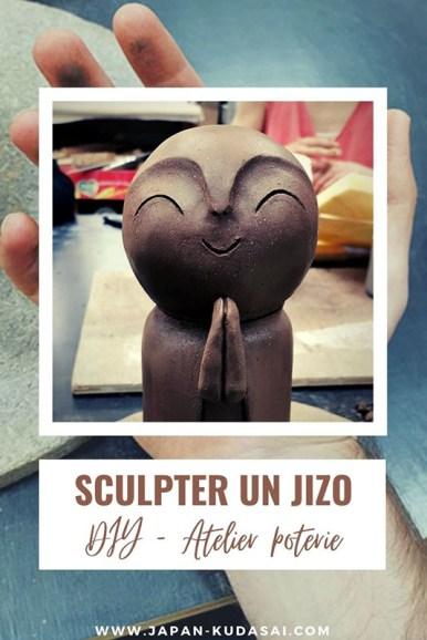 Atelier de sculpture d'un jizo japonais
