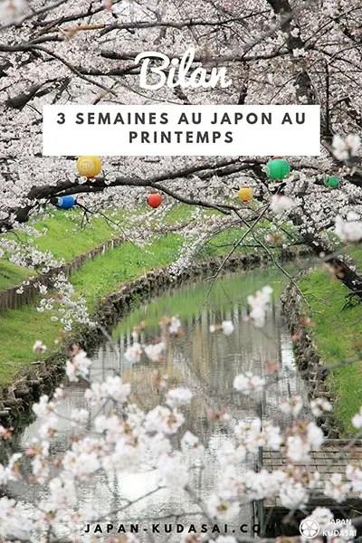 Bilan de 3 semaines de voyage au printemps au Japon