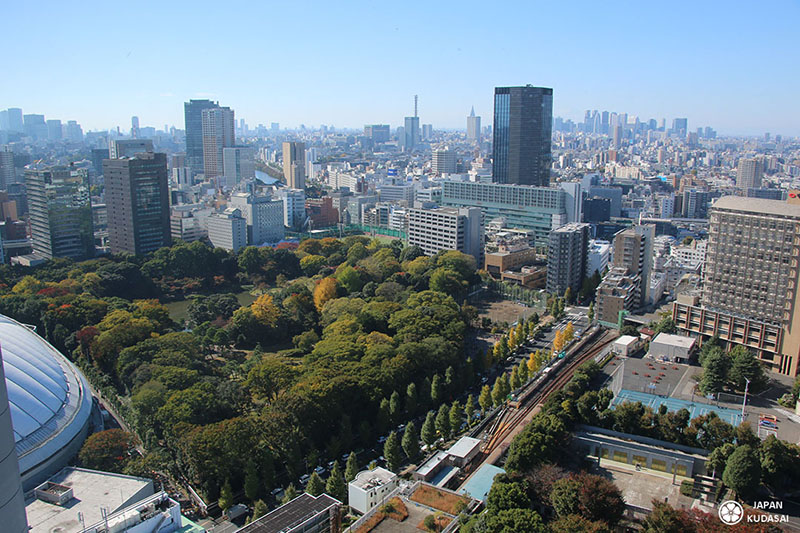 Koishikawa koraku-en depuis Bunkyo civic center Tokyo