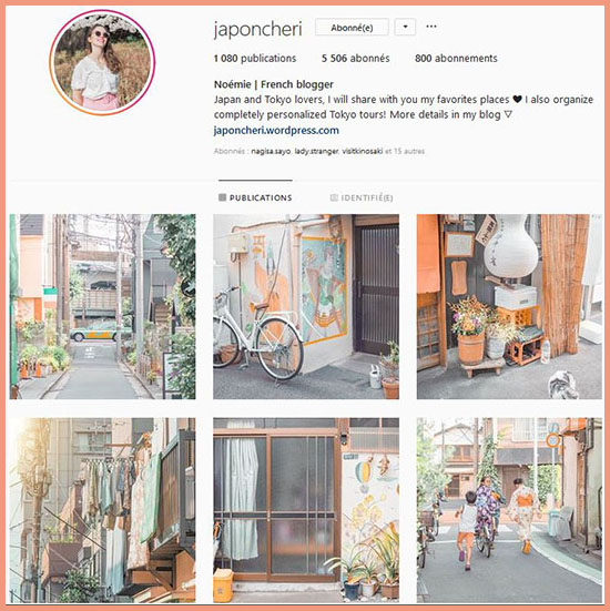 instagram blog japon