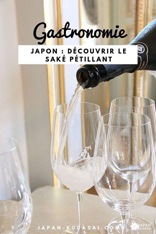 Gastronomie japonaise - goûter au saké pétillant, nouvelle tendance