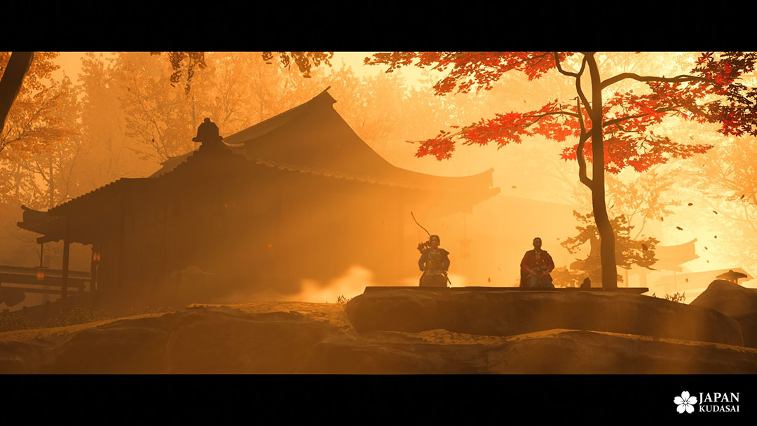 ghost of tsushima ps4 japon temple automne