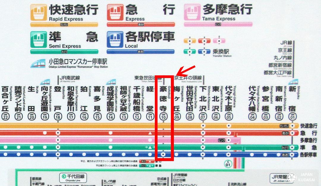 tokyo odakyu line setagaya