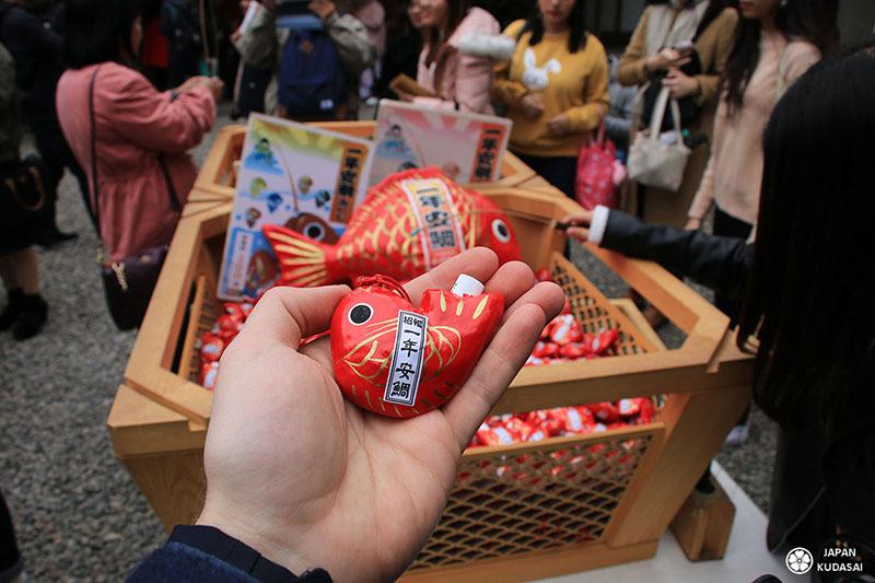 poisson rouge sanctuaire hikawa shinto kawagoe