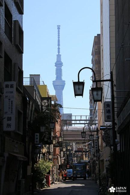 tour tokyo skytree depuis les ruelles d'Asakusa