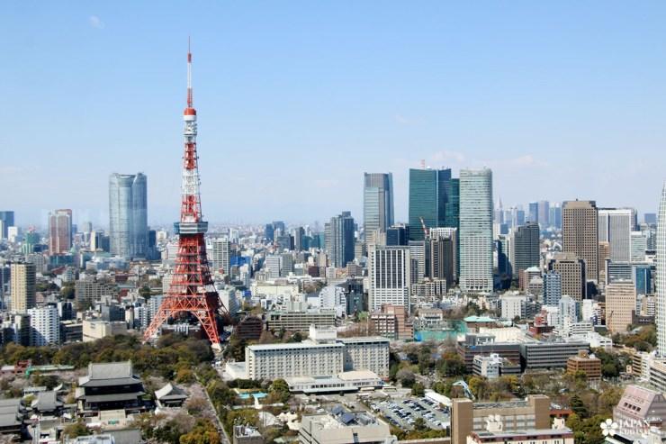 panorama sur la tokyo tower dpanorama sur la tokyo tower depuis le seaside top observatory à Minato