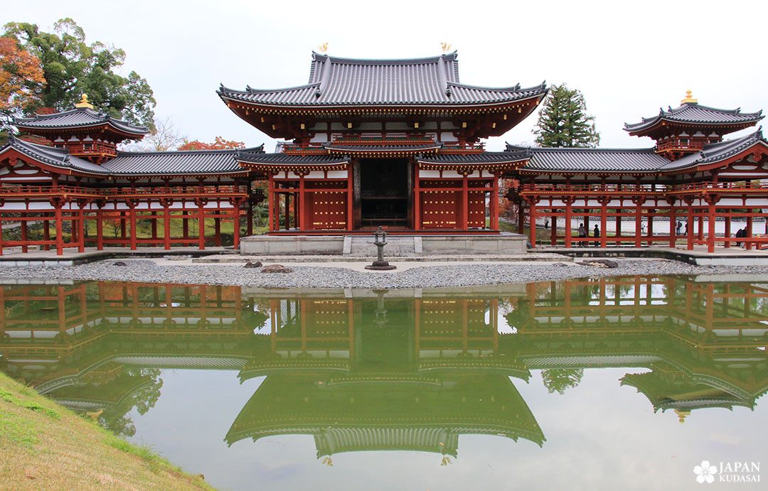 façade du temple byodo-in à uji, kansai