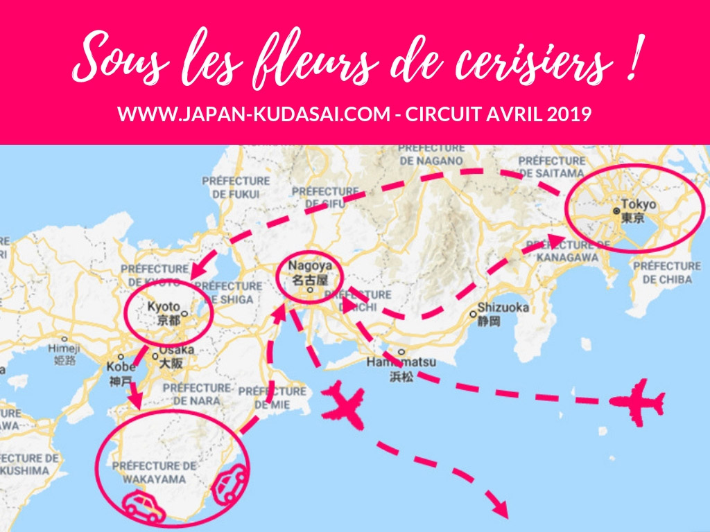 Infographie - circuit Japon avril 2019 - 3 semaines