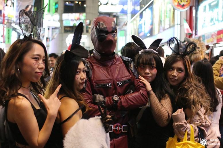deadpool marvel halloween shibuya tokyo