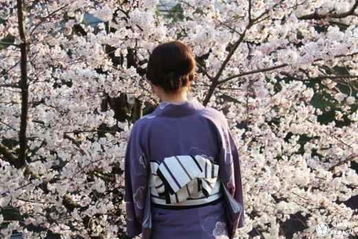 Keage incline est une ancienne voie ferrée à Kyoto où il est possible de voir des cerisiers en fleurs, et des jeunes filles en yukata au cours d'un voyage au Japon au printemps durant hanami.