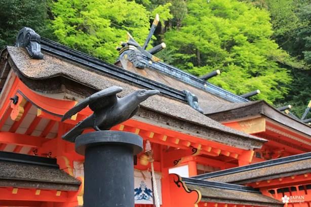 corbeau yatagarasu 3 pattes symbole de wakayama et tanabe