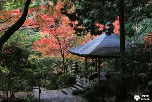 Pénombre enveloppante au temple Mitaki.