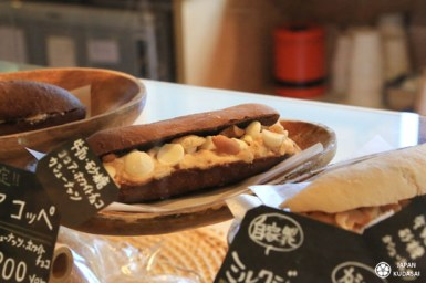 Morikuni bakery, la boulangerie ou on cuisine avec du sake kazu à Shodoshima.