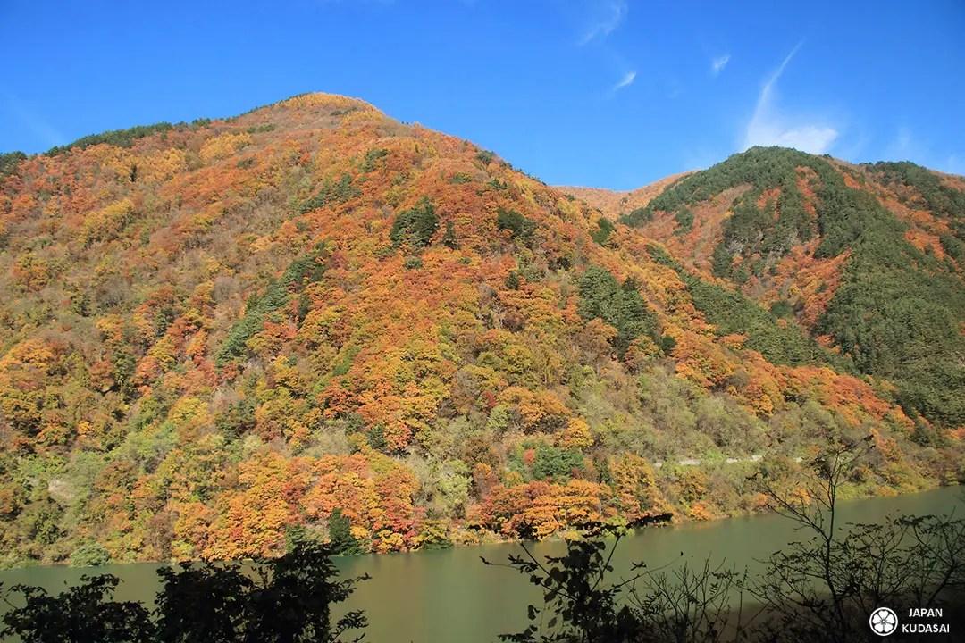 montagne japon érables automne