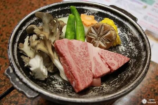 boeuf de hida beef miso hot pot shiitake