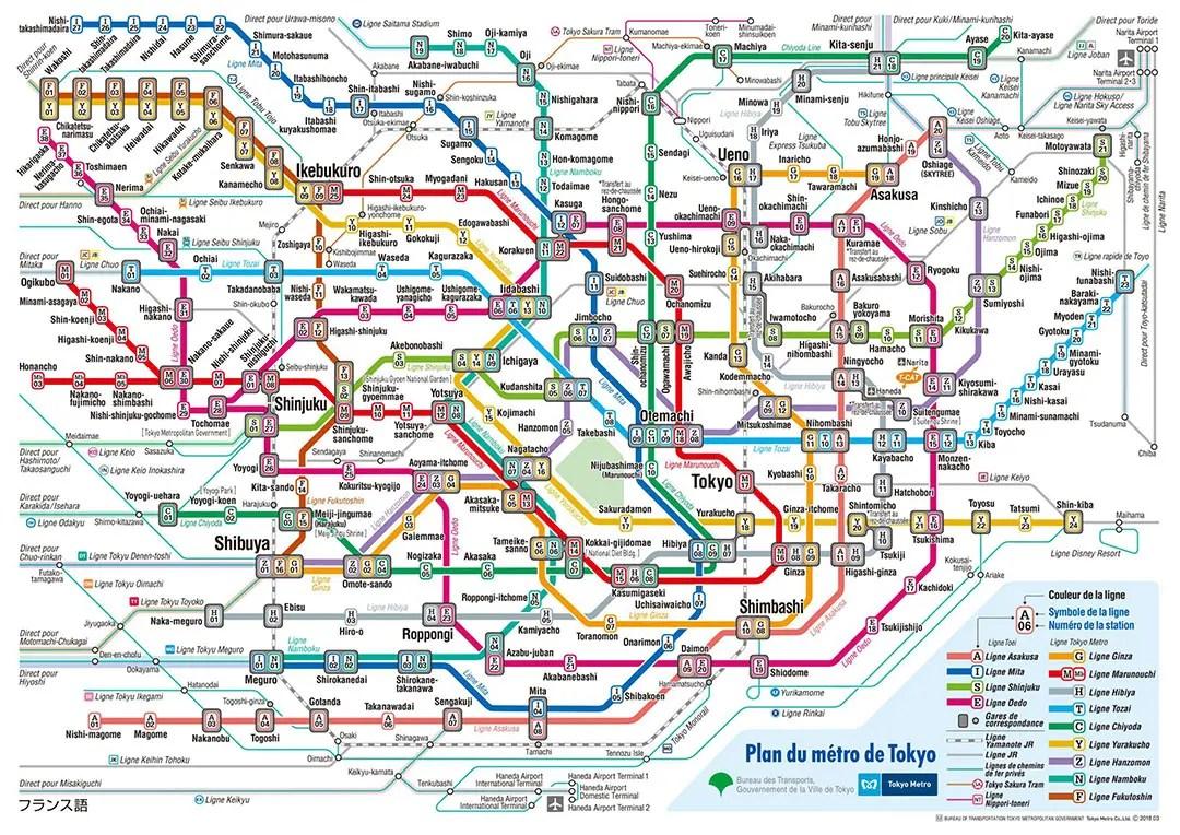 guide pratique plan metro tokyo francais pass suica jr yamanote line