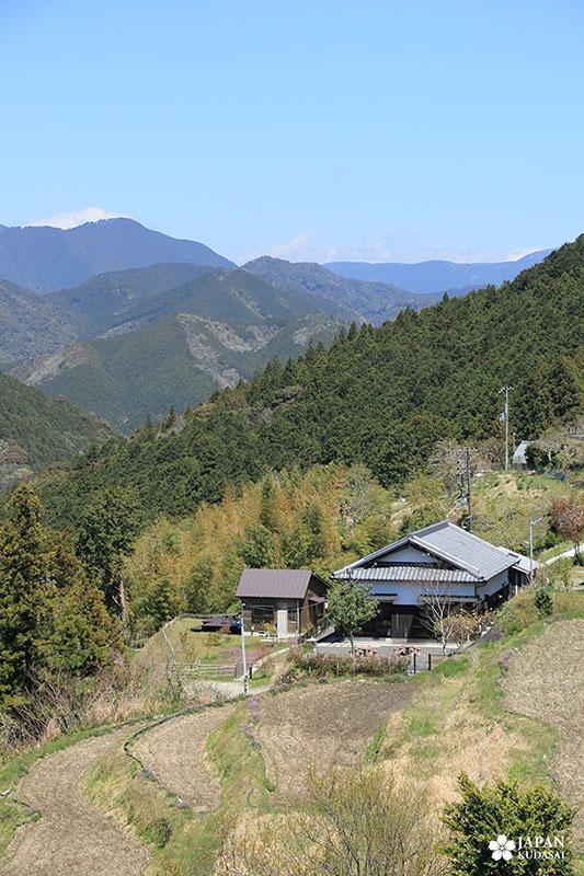 Point de vue sur Takahara - Kumano kodo