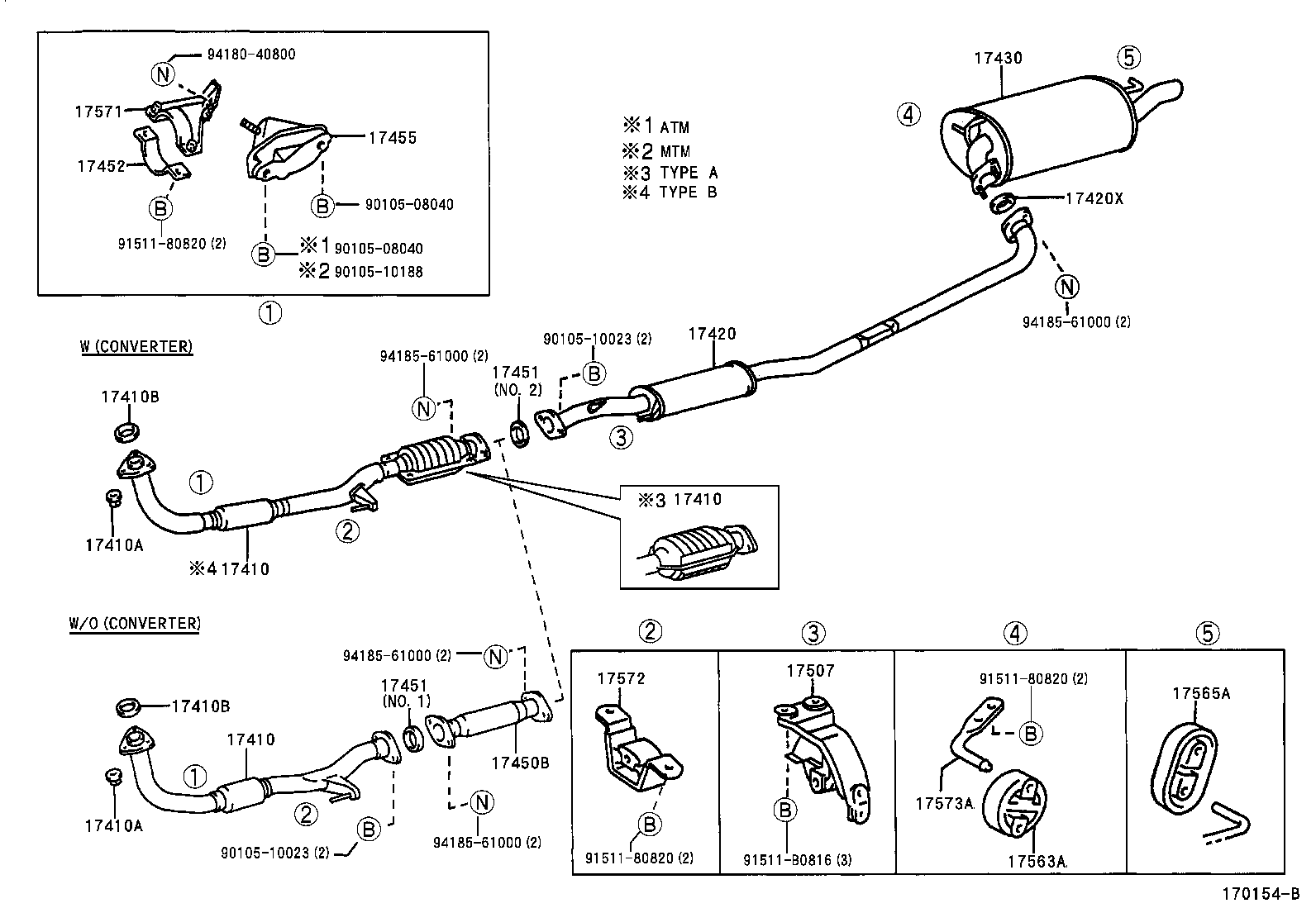 Toyota Camry Exhaust System Diagram
