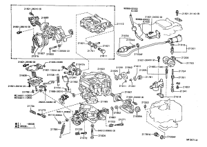 Toyota 22r carburetor parts diagram