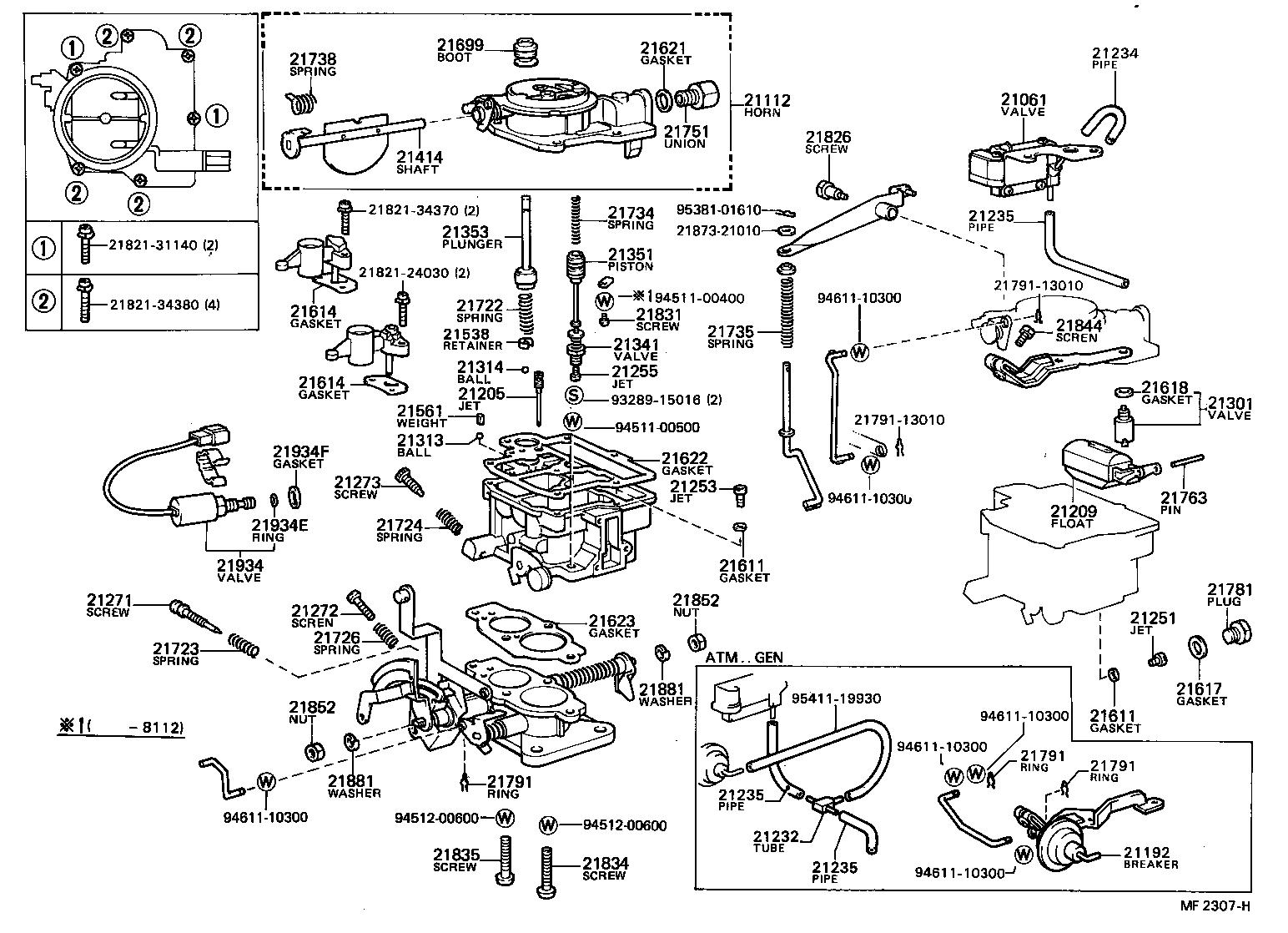 Toyota Corolla Engine Parts Diagram