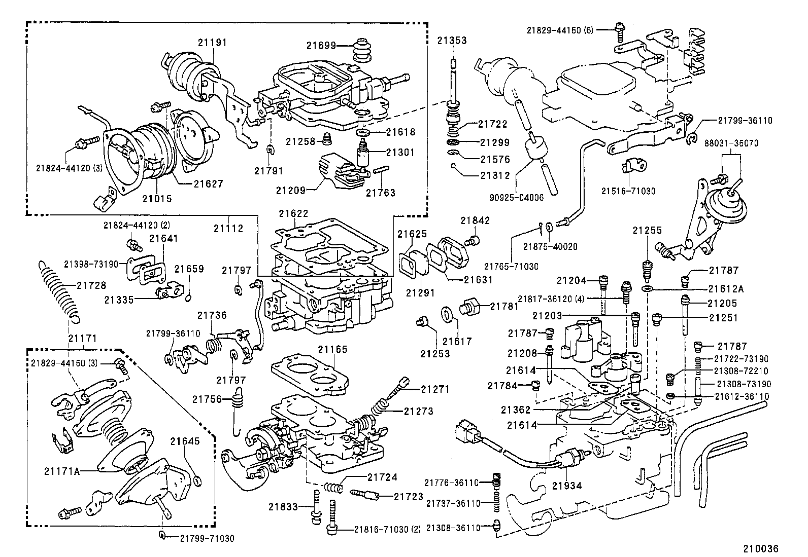85 Toyota 4x4 Engine Diagram