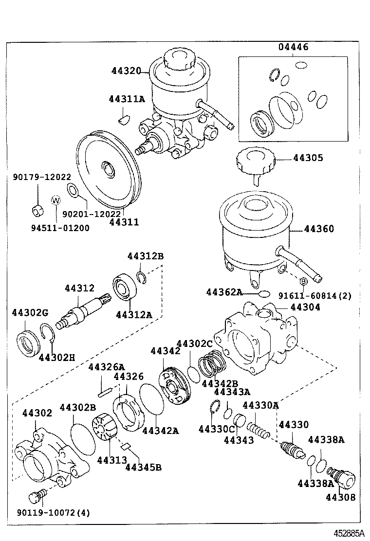 1997 toyota corolla power steering pump