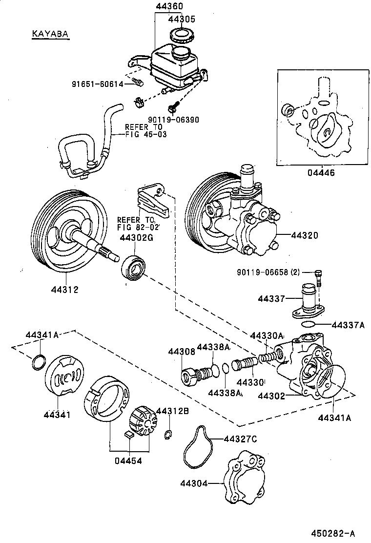 1993 toyota corolla power steering pump