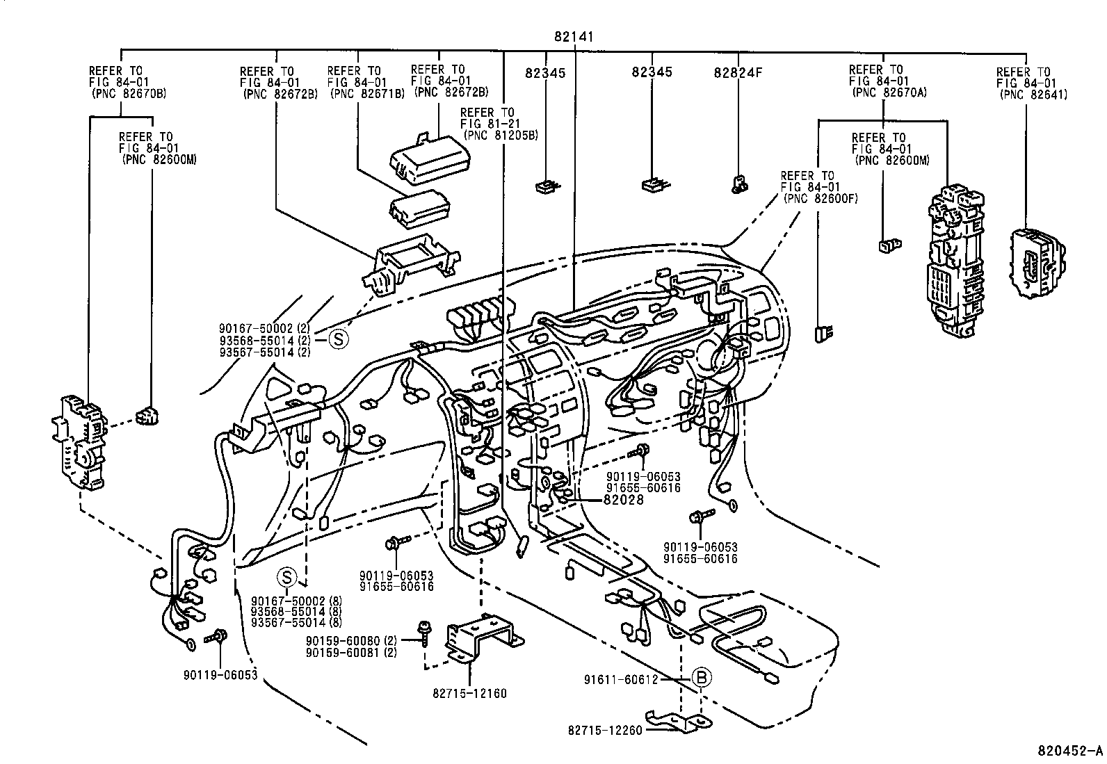 Toyota Parts Wiring
