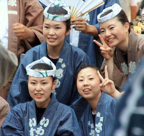 Japanese women at Sanja Matsuri Festival Asakusa tokyo