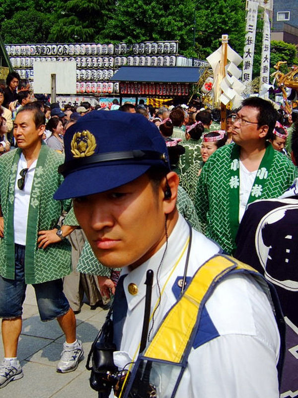 Sanja Matsuri police