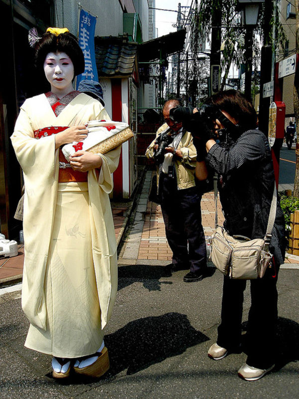 rare Japanese Geisha in Tokyo