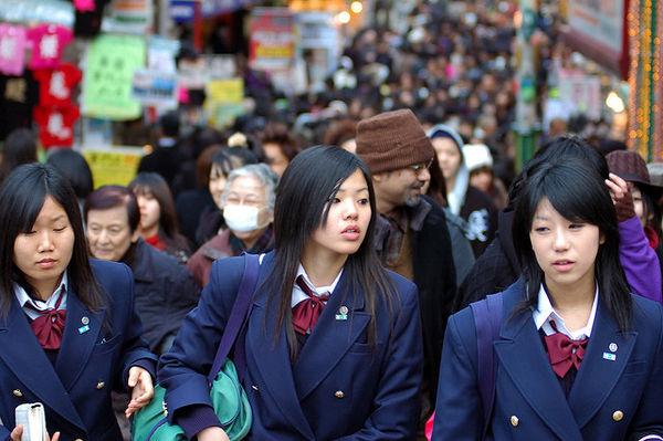 school girls harajuku