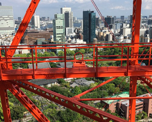 Tokyo Tower climbing stairs