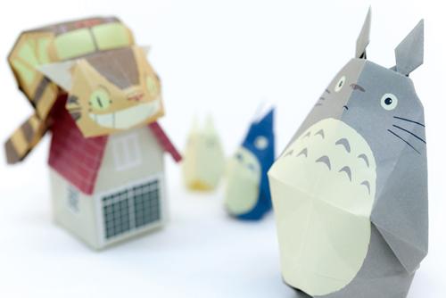 Totoro origami 1