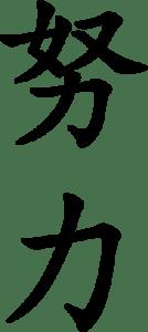 Japanese Word for Effort