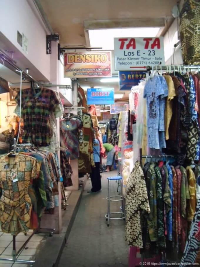 インドネシアスラカルタのマーケット