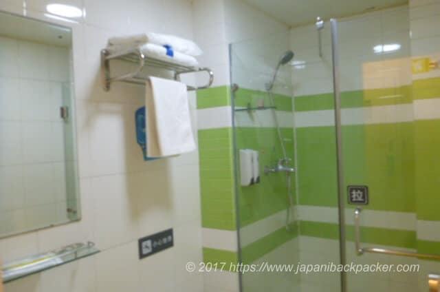 7daysinn広州のシャワールーム