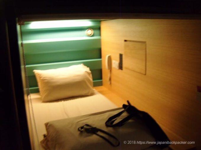 カプセル バイ コンテナホテルのベッド